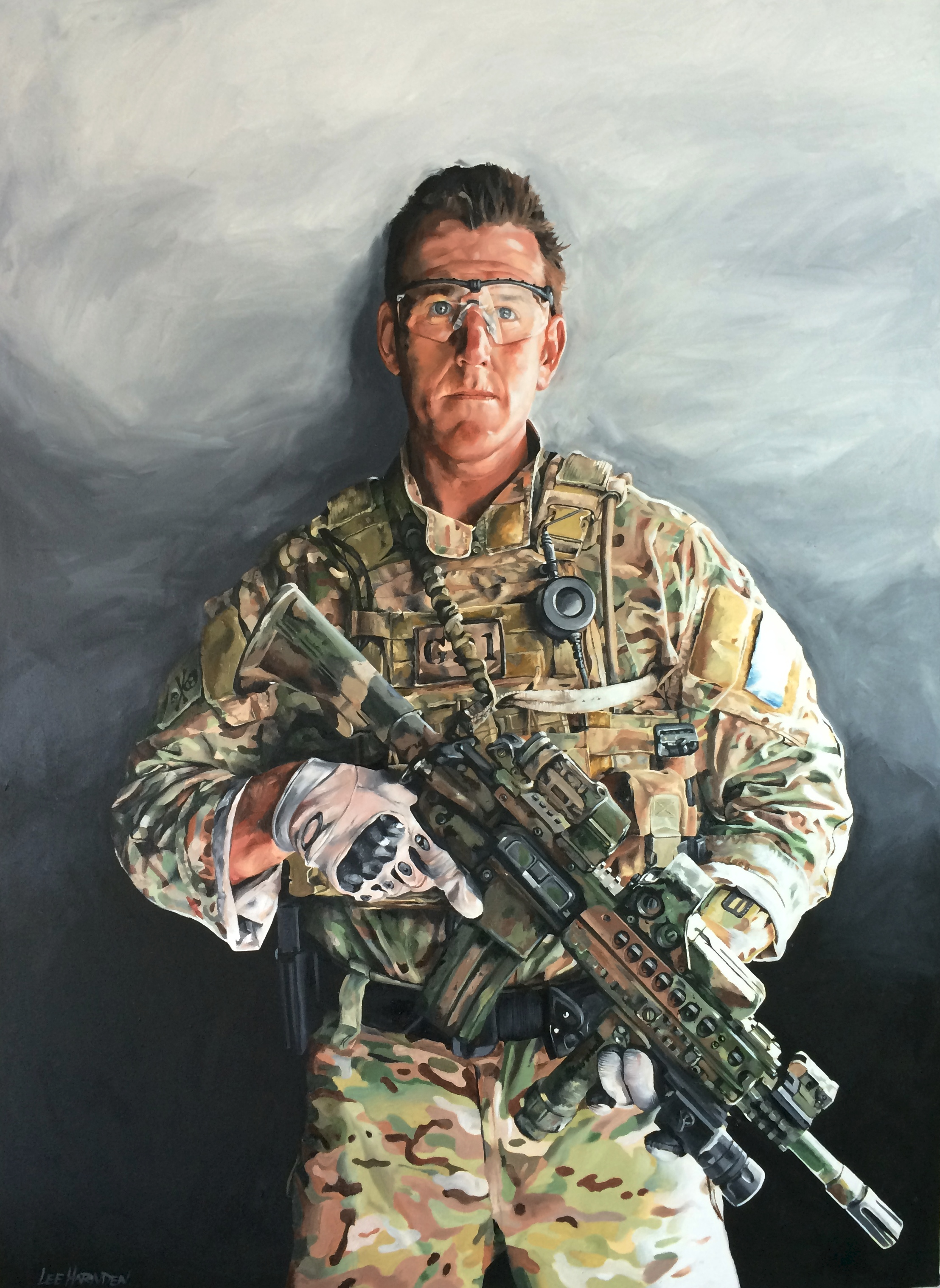 Ben Roberts-Smith VC Oil Painting by Lee Harnden