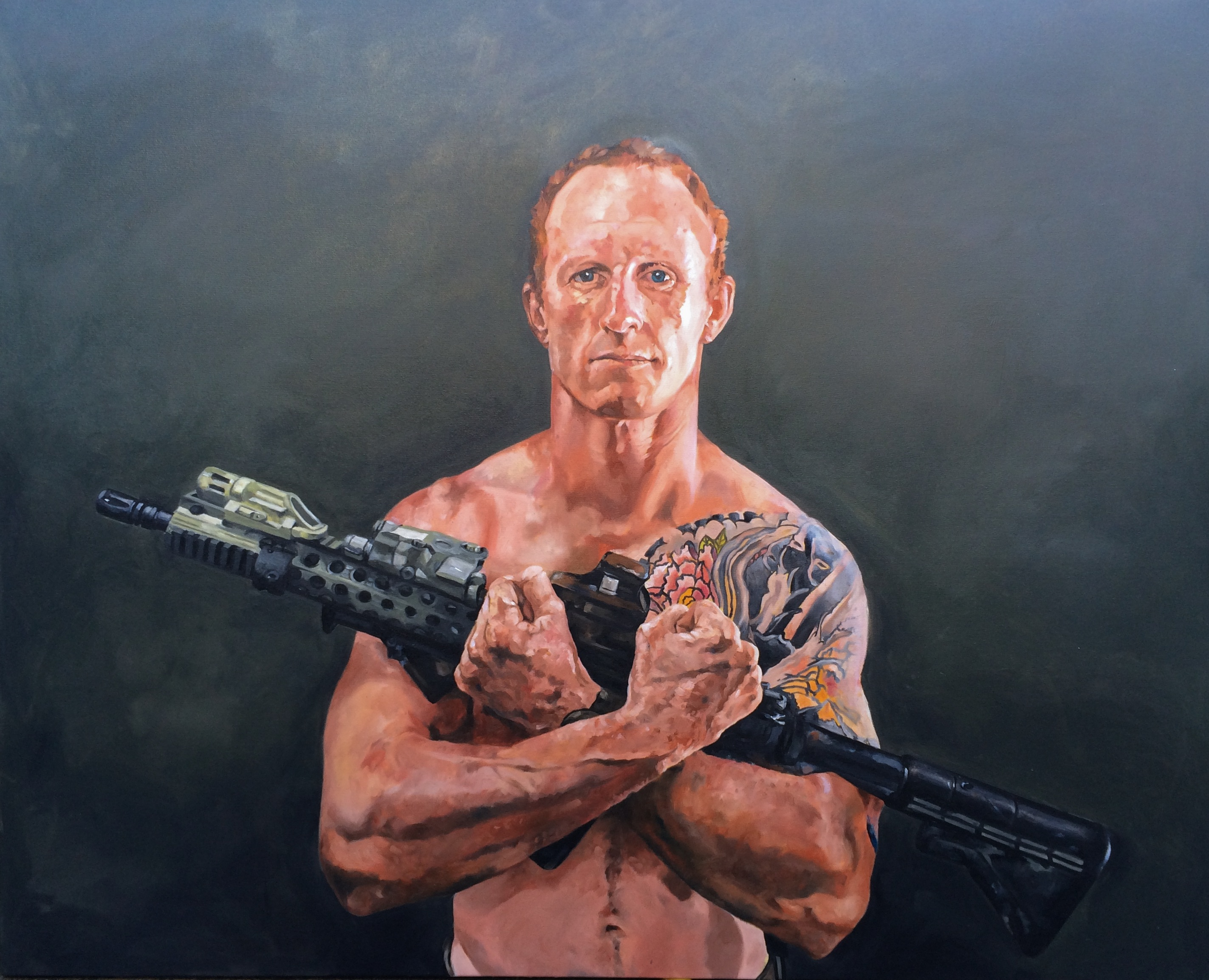 Mark Donaldson VC Oil Painting by Lee Harnden