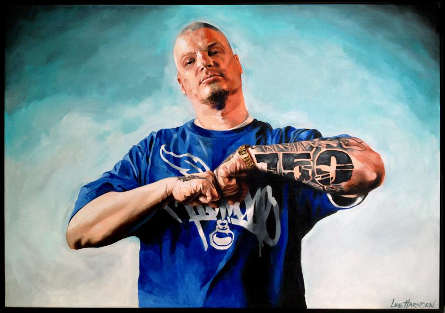jake Biz Oil Painting by Lee Harnden
