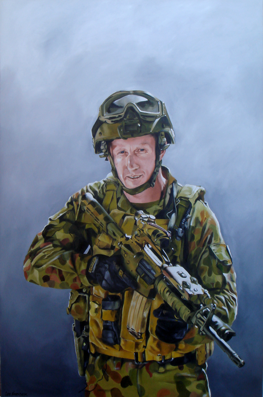 Mark Donaldson VC Oil Painting Portrait by Lee Harnden